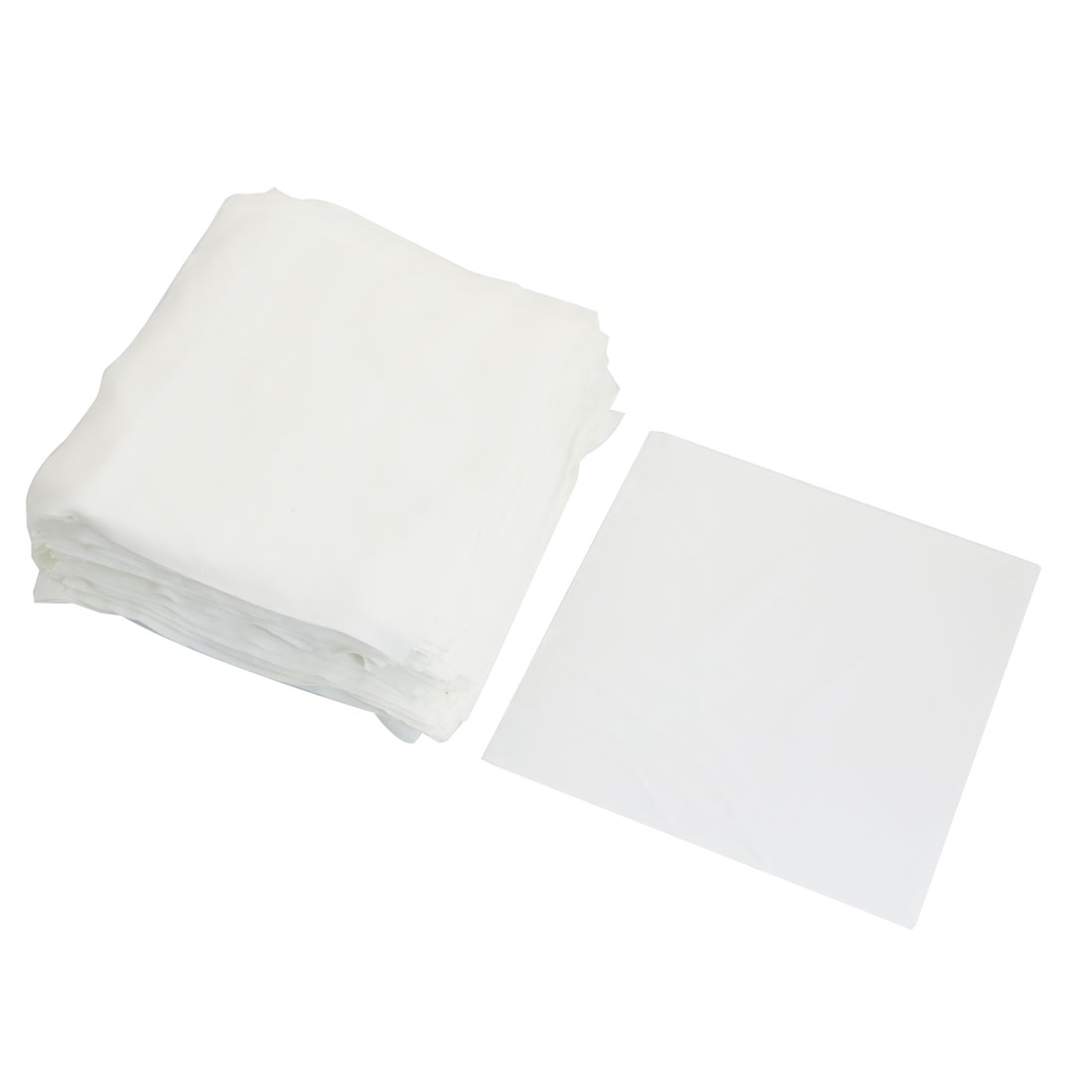 "100 Pcs 6"" x 6"" White Dustless Cleanroom Wiper Wiping Cloth - image 1 of 1"