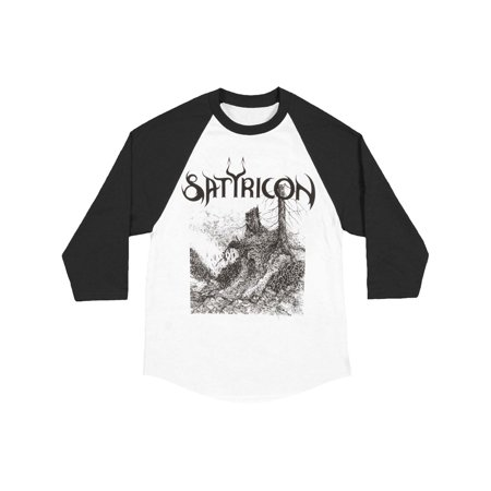Satyricon Men's  Troll Baseball Jersey Black & White