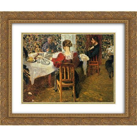 Edouard Vuillard 2x Matted 24x20 Gold Ornate Framed Art Print 'The End of Breakfast at Madam Vuillard' ()