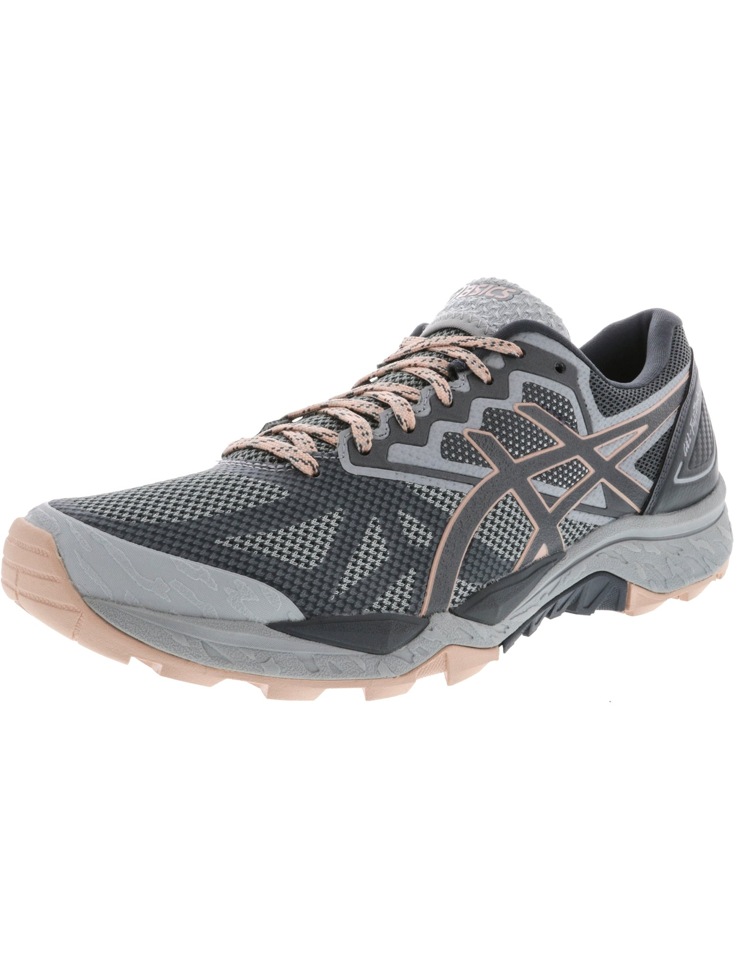 Asics Women's Gel-Fujitrabuco 6 Mid Grey / Carbon Evening Sand Ankle-High Running Shoe - 8.5M