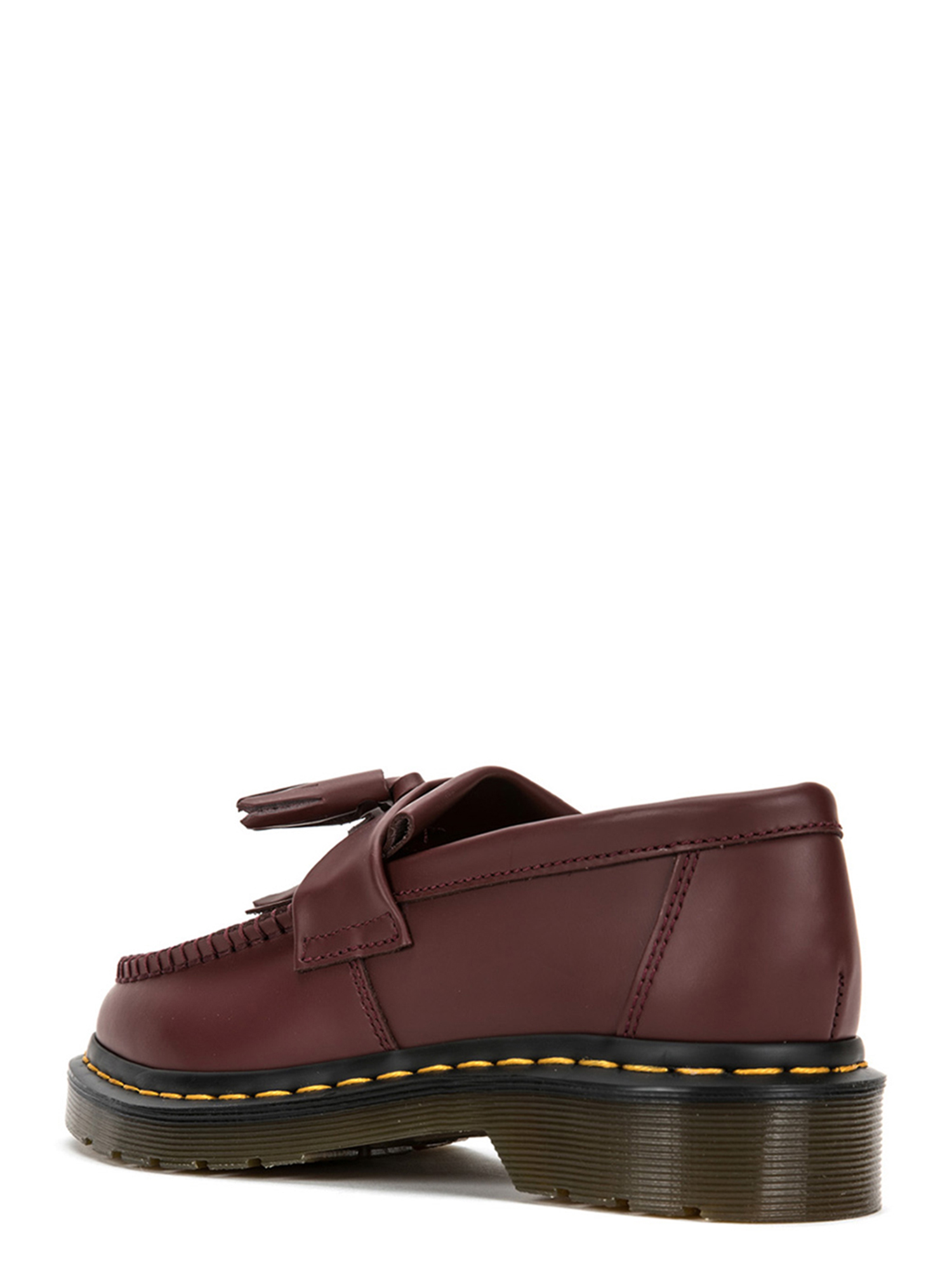 Dr. Martens Adrian Yellow Stitch Loafers 22209600 Cherry Red