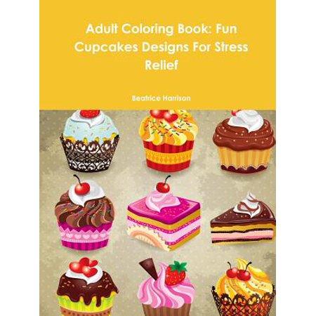 Family Fun Magazine Halloween Cupcakes (Adult Coloring Book : Fun Cupcakes Designs for Stress)