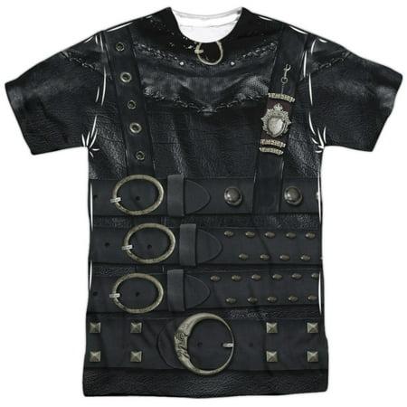 Edward Scissorhands Edward Costume Mens Sublimation - Edward Scissorhands Costume For Boys