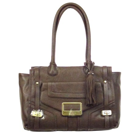Guess Westbrook Satchel in Coffee