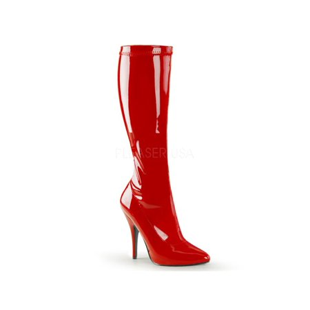 SED2000/R Pleaser Single Soles Knee High Boots RED Size: 11