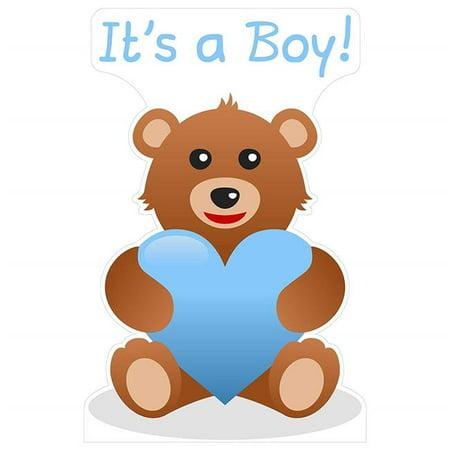 Star Cutouts SC2064 Its a Boy Teddy Bear Cardboard Standup - Photo Stand Ins Cutouts