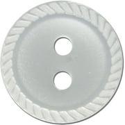 "Slimline Buttons Series 1-Pearl 2-Hole 1/2"" 5/Pkg"