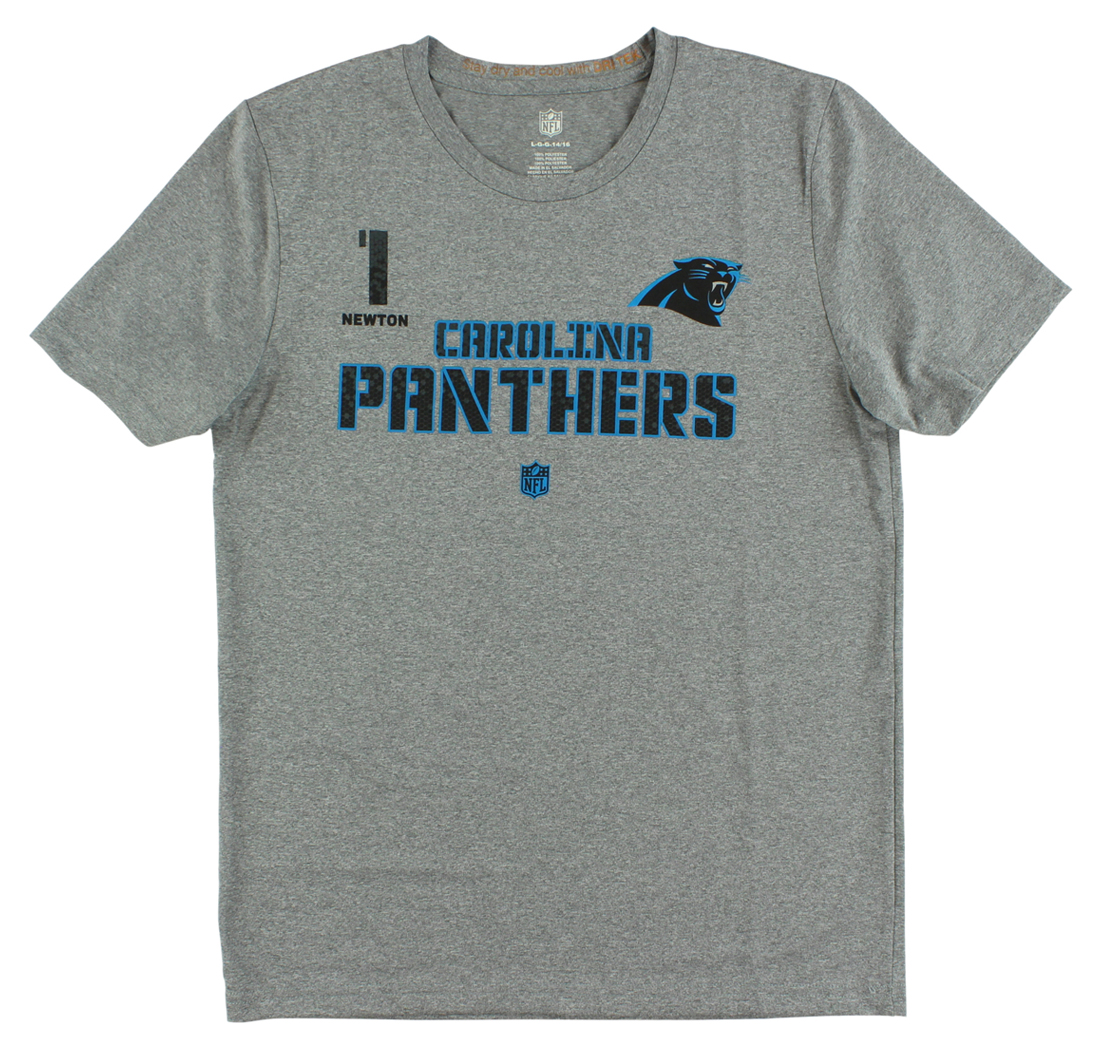 NFL Boys Carolina Panthers Newton Co Vert Ops T Shirt Gray