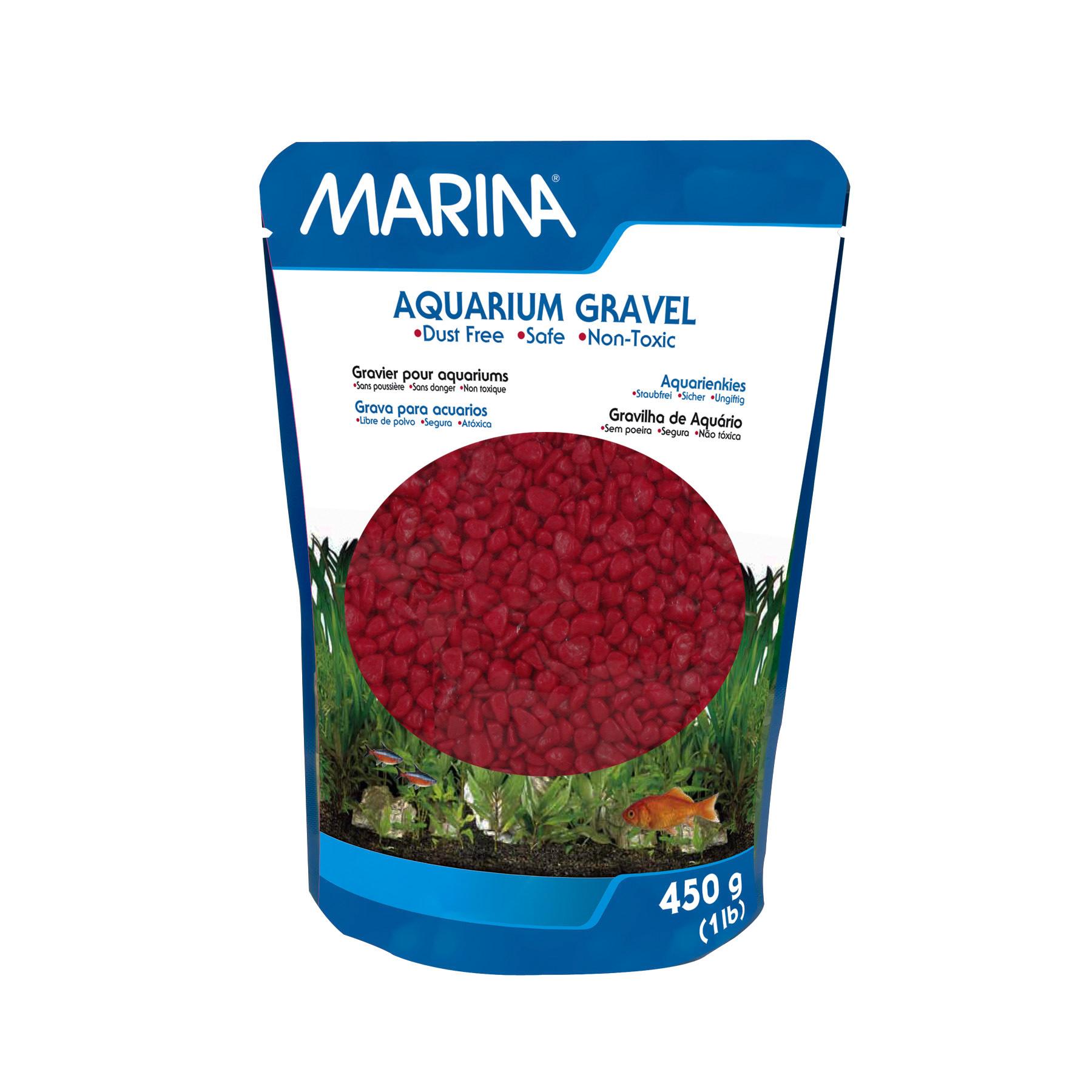 (3 Pack) Marina Red Aquarium Gravel, 1 lb
