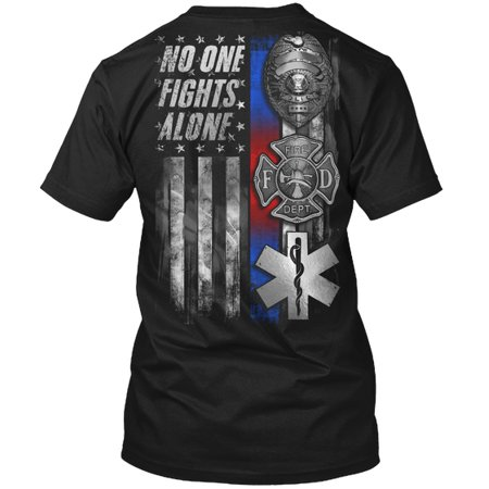 Police Fire EMS: No One Fights Alone Hanes Tagless Tee T-Shirt