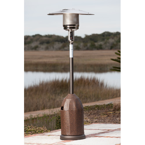 Fire Sense All-Weather Wicker Patio Heater by Well Traveled Living