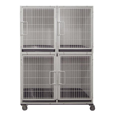 Powdercoated 3 or 4 Unit Cage Bank