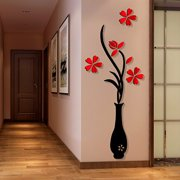3D Wall Sticker, Justdolife Removable Flower Novelty Potted Plant Wall Art Decals for Kids Living Room Bedroom Home Decor Quotes