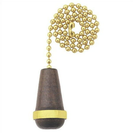 Westinghouse Lighting Walnut Cone with Gold Trim Ceiling Fan Pull Chain (Set of -