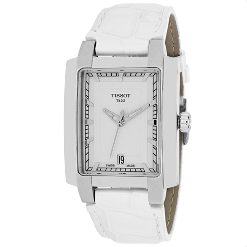 TISSOT T Trend TXL White Dial White Leather Ladies Watch