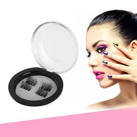 2f6b1bfe092 Natural False Lashes, Magnetic Lashes, 4Pcs Magnetic Eyelash False Lashes  Magnetic Lashes False Eyelashes Toiletry - Walmart.com
