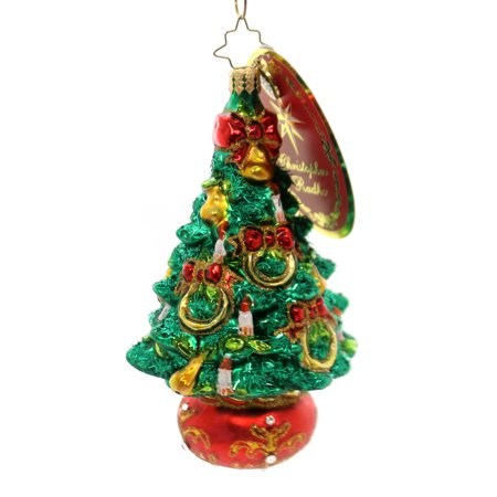 Christopher Radko FIVE GOLDEN RINGS Glass Tree Candles