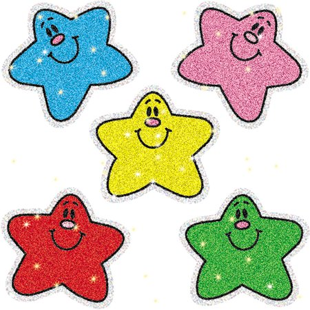 (DAZZLE STICKERS STARS MULTI 75-PK ACID & LIGNIN FREE)