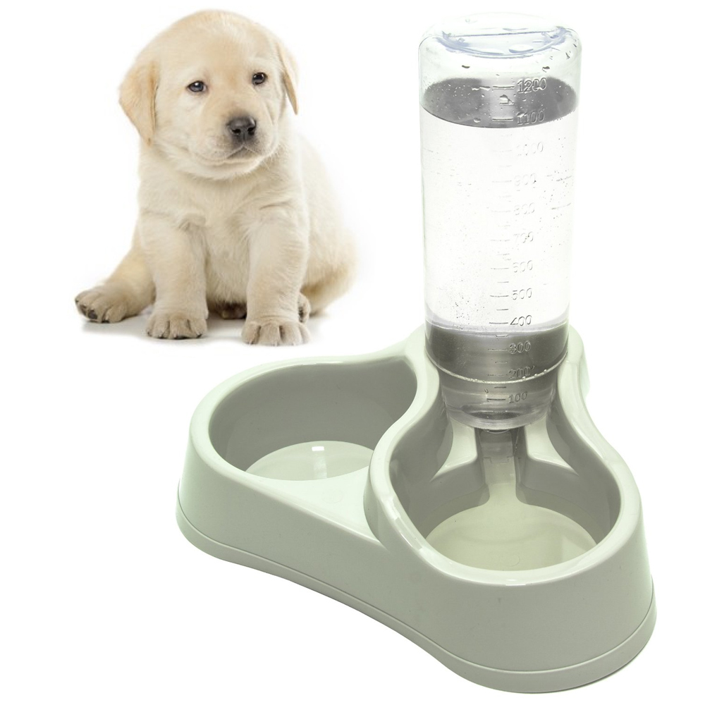 Dog Water Dispenser Feeder Automatic Bottle Fountain Food
