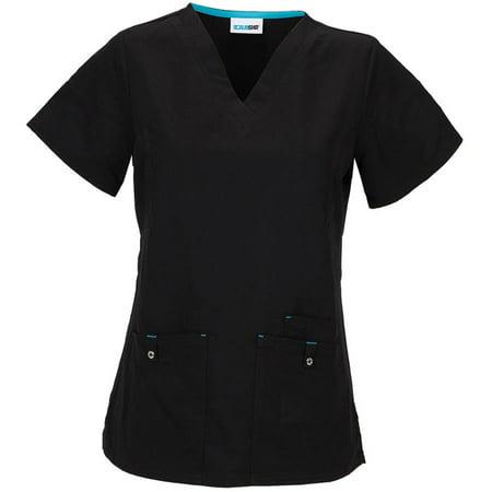 464de87f0e6 Simply Basic - Women's Premium Collection Stretch Rayon V-Neck Scrub Top -  Walmart.com