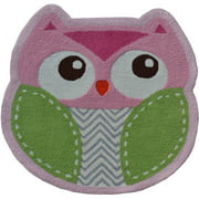 "The Rug Market Shaped Owl 3"" x 3"" Area Rug"