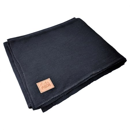 ASR Outdoor 64 inch x 84 inch Wool Blanket 4 Pounds 80 Percent Wool ()
