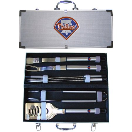 MLB 8-Piece BBQ Set with Hard Case, Philadelphia Phillies by