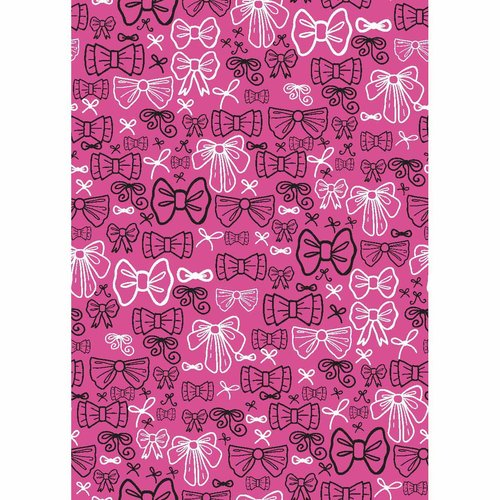 Springs Creative Iconic Coordinates Pink Bows Fabric by the Yard