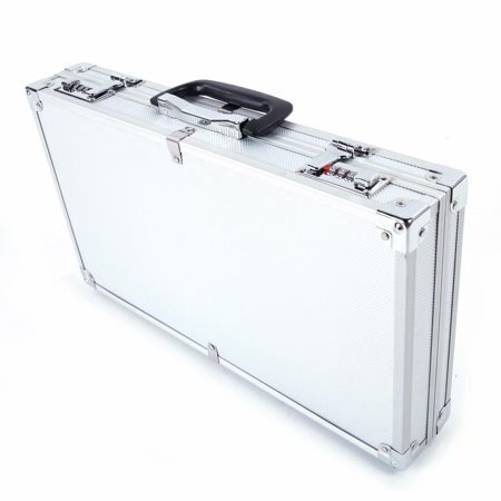 Clearance! Aluminum Lock Box Pistol Case Gun Security Box Gun Vault Handgun Safe Shelf-Mountable Gun Safe with Digital Key, 17.71
