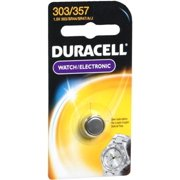 Duracell Silver Oxide Battery Watch/Electronic 1.5 Volt 303/357 1 Each (Pack of 6)