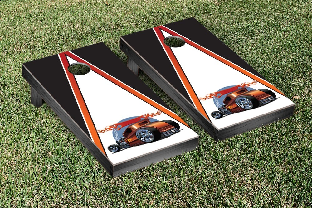 Classic Car Hot Rod Cornhole Game Set Version 4 by Victory Tailgate