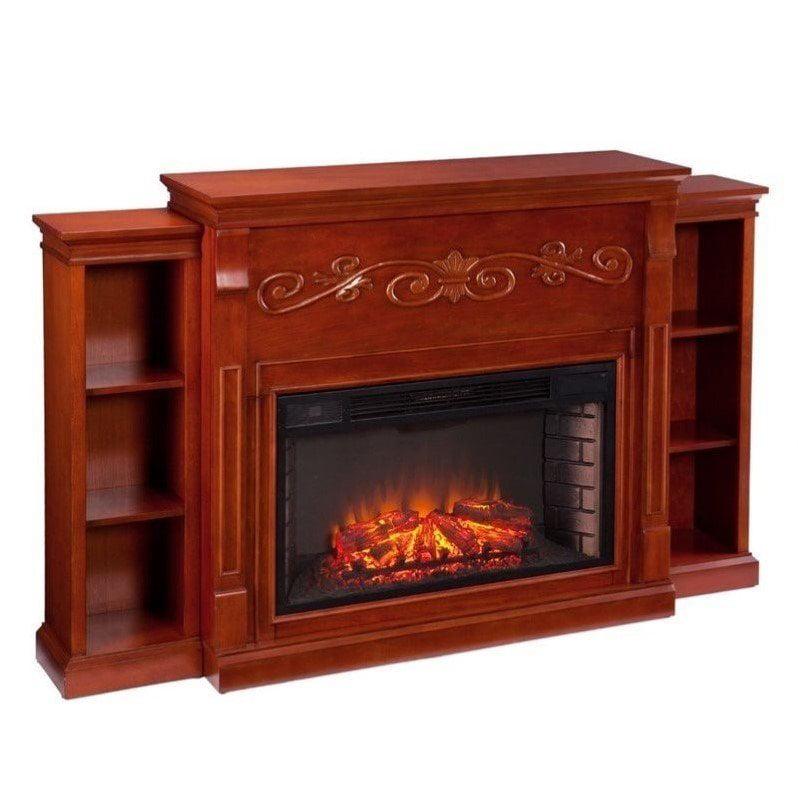 Southern Enterprises Locksley Bookcase Electric Fireplace...