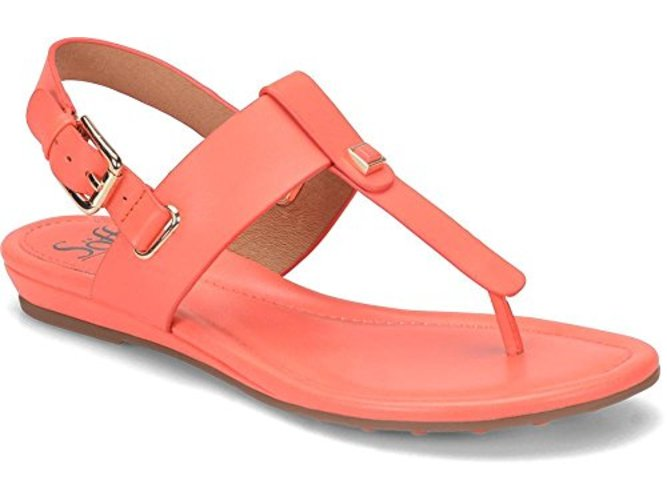 Sofft Womens Alexie Leather Split Toe Casual Slingback Sandals by Sofft