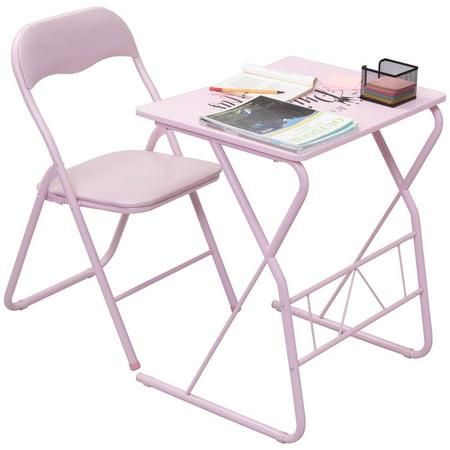 Goplus Kids Folding Table Chair Set Study Writing Desk Student Children Home School New
