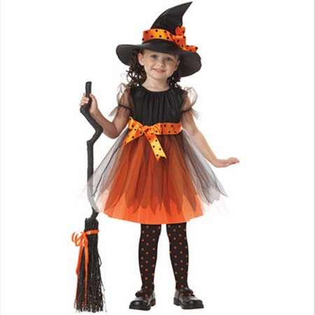 Mosunx Toddler Kids Baby Girls Halloween Clothes Costume Dress Party Dresses+Hat Outfit - Halloween Toddler Clothes