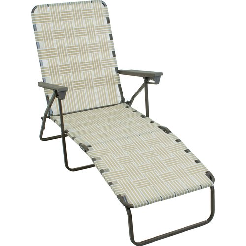 Mainstays Web Lounger, Dune/White