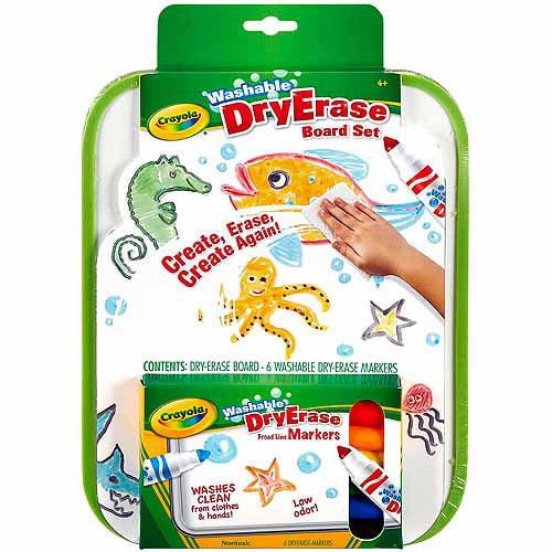 Crayola Dry-Erase Go-Anywhere Washable Marker Board Set