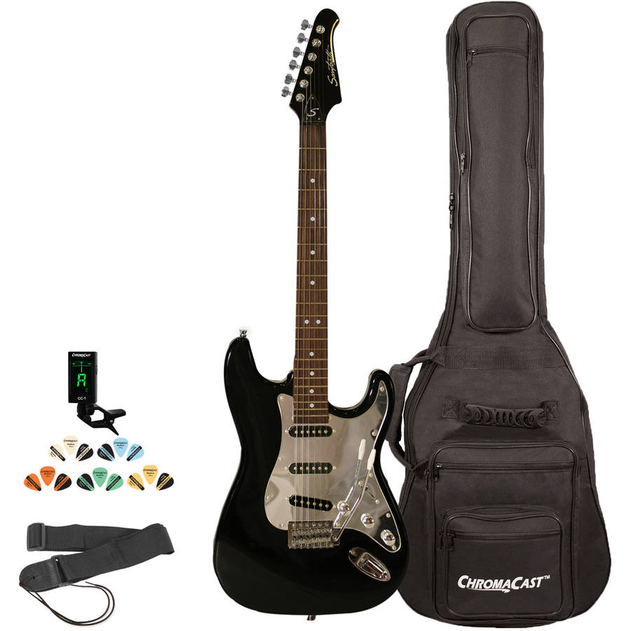 Sawtooth ES Series Electric Guitar Kit with ChromaCast Gig Bag and Accessories