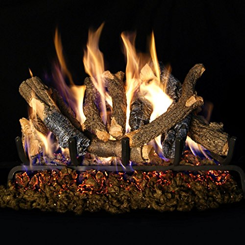 Peterson Real Fyre 24-inch Charred Oak Stack Log Set With Vented G4