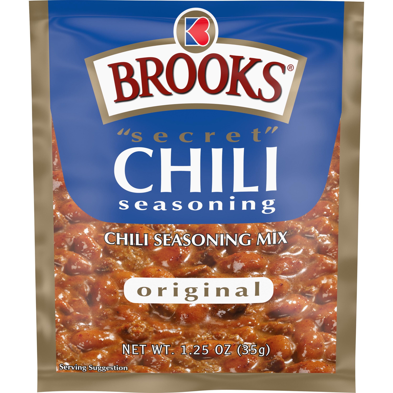 Brooks Secret Chili Seasoning Mix Original 1 25 Oz Walmart Com Walmart Com