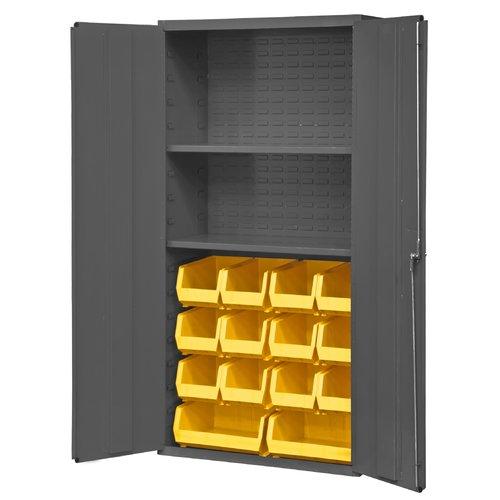 Durham Manufacturing 72'' H x 36'' W x 18'' D 14 Gauge Welded Steel Flush Door Style Storage Cabinet