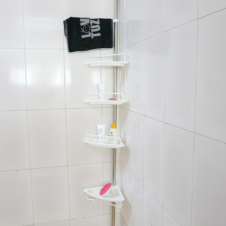 Walfront 4 Tier Adjustable Corner Shower Caddy Shelf Bathroom
