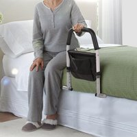 Bed Rails for Elderly - Adjustable Hospital Grade Safety Bed Rail for Adults Seniors, Bed Side Handrail, Senior Adult Handrail, Handicap Bed Assist Rail, Height TOP Rail Accommodates Thick MATTRESSES