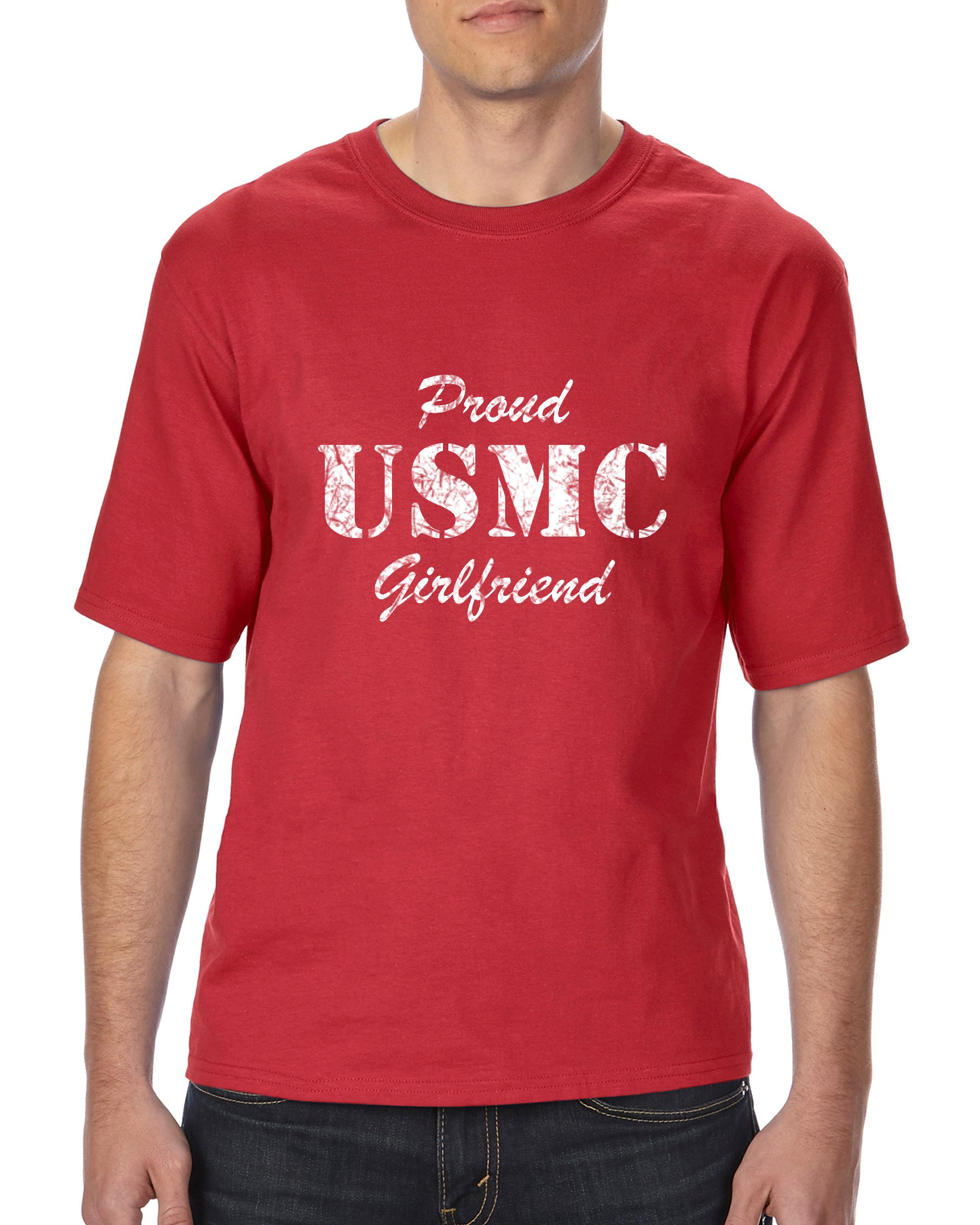 USMC T-Shirt Proud USMC Girlfriend Marines Navy Family Homecoming ...