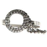 Squared Crystal Bangle Bracelet, White