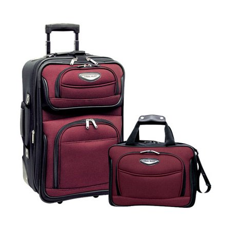 Amsterdam 2-Piece Carry-On Luggage Set 15 x 11 x 6; 21 x 14 x 8 (2 Piece Stackable Luggage Set)