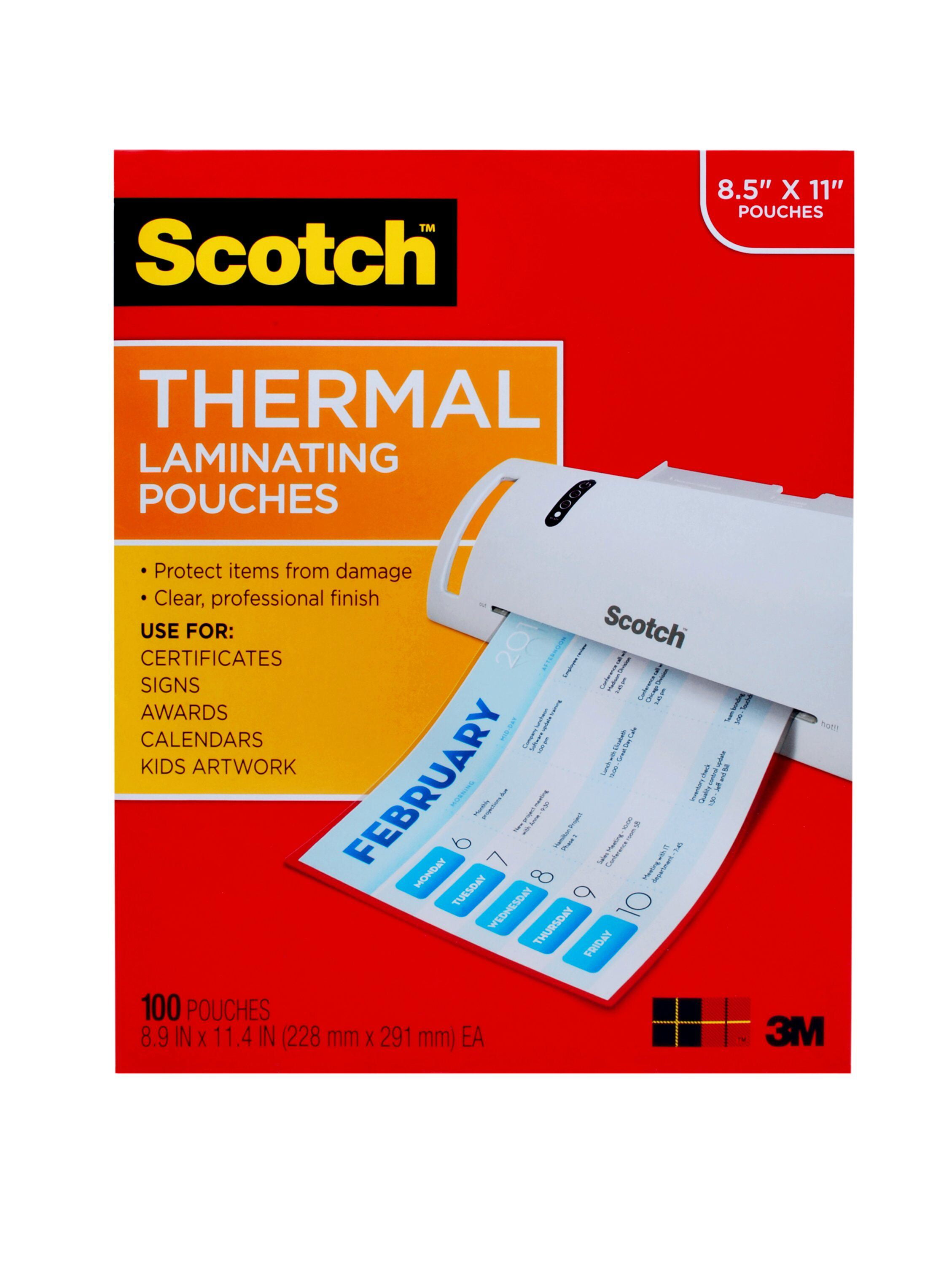 80 3M Scotch Thermal Laminating Pouches 5x7 4x6 3x5 /& Wallet Size 20 of EACH