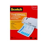 "Scotch Thermal Laminating Pouches, 100 Count, 8.5"" x 11"", 3 mil Thick"