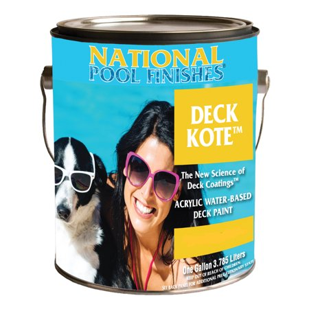 National Paint Aztec Gold Deck Kote Acrylic Swimming Pool Deck Paint-1 Gallon