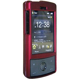 Premium Polished Red Snap On Hard Shell Case for HTC Touch Diamond